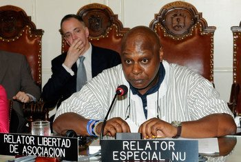 Special Rapporteur on the rights to freedom of peaceful assembly and of association Maina Kiai.
