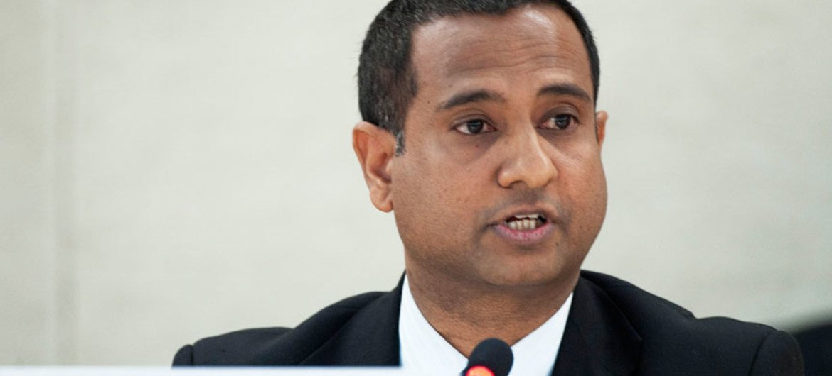 Special Rapporteur on the Situation of Human Rights in Iran Ahmed Shaheed.