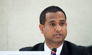 Le Rapporteur spécial sur la situation des droits de l'homme en Iran, Ahmed Shaheed. Photo ONU/Jean-Marc Ferré