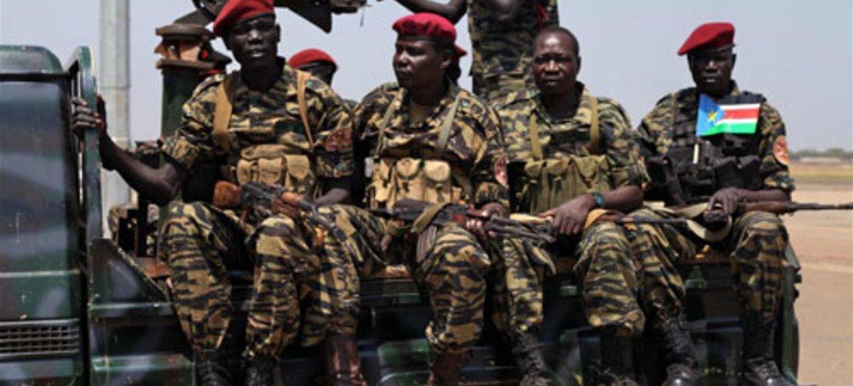 SPLA troops in South Sudan.