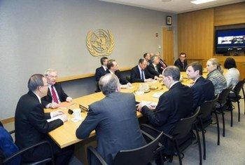Reunión del Cuarteto. Foto de archivo: ONU/Eskinder Debebe