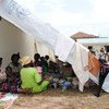 Homeless people in Brazzaville, capital of the Republic of Congo,  seek shade under makeshift shelters in Nkombo market.