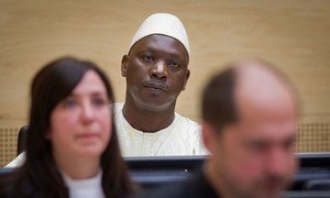 Thomas Lubanga à la Cour pénale internationale. Photo CPI/E. Daniel