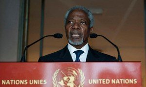 Kofi Annan, Joint Special Envoy of the United Nations and the League of Arab States on the Syrian Crisis.