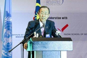Le Secrétaire général Ban Ki-moon. Photo ONU/Eskinder Debebe