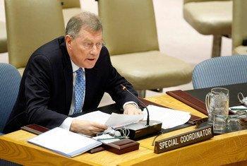 Le Coordonnateur spécial des Nations Unies pour le processus de paix au Moyen Orientn Robert Serry, au Conseil de sécurité de l'ONU.