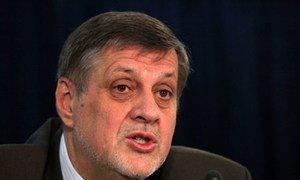 Le Représentant spécial du Secrétaire général pour l'Afghanistan, Jan Kubis. Photo MANUA/Fardin Waezi