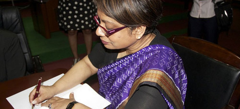 Special Representative Radhika Coomaraswamy.