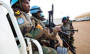 UNAMID troops on patrol in North Darfur.