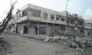 La ville de Homs en Syrie a été lourdement bombardée par les forces gouvernementales. Photo OCHA/Jutta Hinkannen