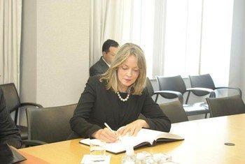 Secretary-General of the Union of South American Nations (UNASUR) María Emma Mejía Vélez.