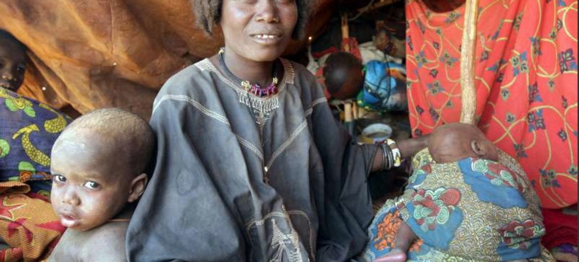 Zoulfa fled her village of Souggan in Mali to northern Niger, in February with her children due to insecurity.