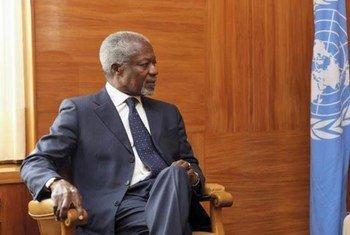 L'Envoyé spécial conjoint des Nations Unies et de la Ligue des Etats arabes pour la Syrie, Kofi Annan. Photo ONU/Fabrice Arlot