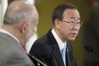 الأمين العام للأمم المتحدة بان كي مون من صور الأمم المتحدة/مارك جارتن