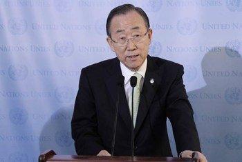 Le Secrétaire général de l'ONU, Ban Ki-moon. Photo ONU/Paulo Filgueiras
