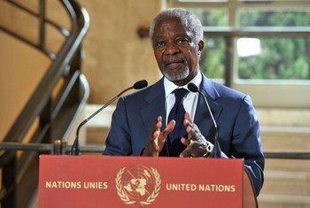 L'Envoyé spécial conjoint de l'ONU et de la Ligue arabe en Syrie, Kofi Annan.