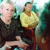Margot Wallström hears stories from survivors of sexual violence in an IDP community, 100 km from Bogota, Colombia.