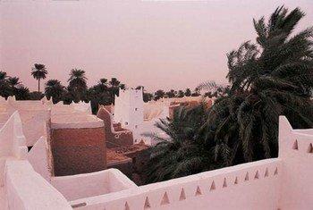"""Ghadamès, la """"perle du désert"""", un des sites libyens inscrits au Patrimoine mondiale de l'UNESCO."""
