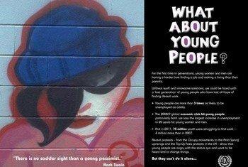 Affiche du Forum de l'emploi des jeunes.