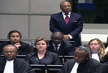 Former Liberian President Charles Taylor awaiting verdict on April 26, 2012.