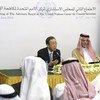 Secretary-General Ban Ki-moon and Foreign Minister, Prince Saud Al-Faisal, at news conference.