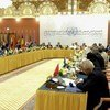 A wide view of the 2nd Meeting of the Advisory Board of the UN Centre for Counter-Terrorism (UNCCT), attended by Secretary-General Ban Ki-moon, in Jeddah, Saudi Arabia.