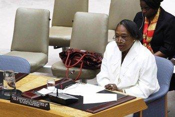 La Représentante spéciale Margaret Vogt lors d'une réunion au Conseil de sécurité sur la situation en République centrafricaine. Photo ONU/JC McIlwaine