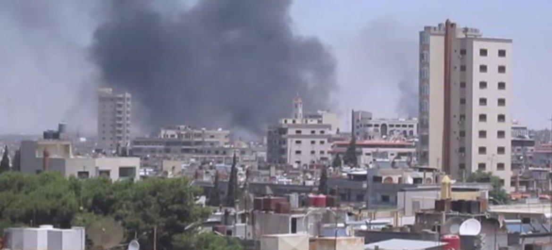 Violencia en Homs. Foto: UNSMIS