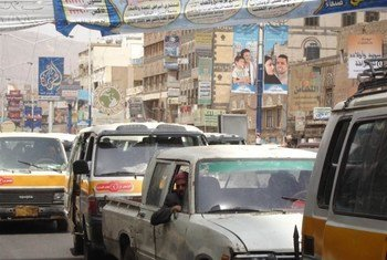 Embouteillage dans la capitale du Yémen, Sanaa.