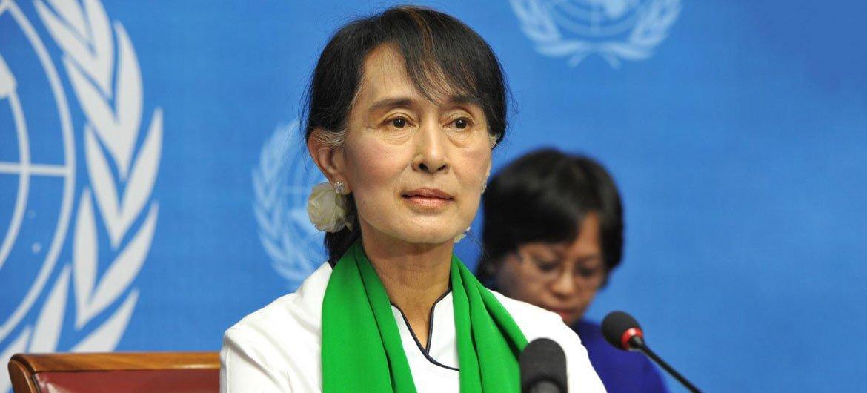 म्याँमार की लोकतान्त्रिक नेता आँग सान सू ची