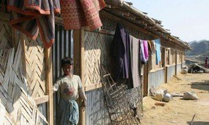A boy from Myanmar's northern Rakhine state at a refugee camp in Bangladesh.