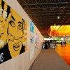 Un exposition sur le développement durable à Rio+20.