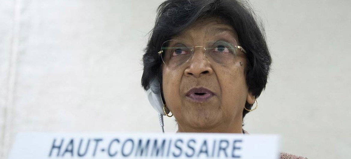 High Commissioner for Human Rights Navi Pillay addresses the 20th Session of the Human Rights Council.