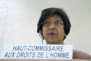 La Haut Commissaire des Nations Unies aux droits de l'homme Navi Pillay lors de la 20ème session du Conseil des droits de l'homme. Photo ONU/Jean-Marc Ferré