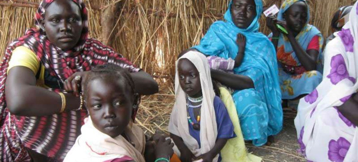 A group of refugees in Jamam, South Sudan.