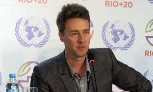 Edward Norton, United Nations Goodwill Ambassador for Biodiversity.