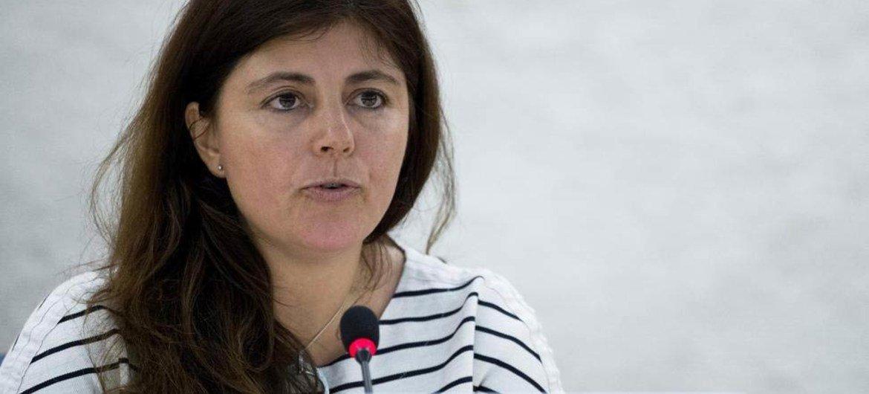 La Rapporteuse spéciale sur l'extrême pauvreté et les droits de l'homme, Magdalena Sepulveda. Photo ONU/Jean-Marc Ferré