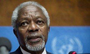 L'Envoyé spécial conjoint des Nations Unies et de la Ligue des États arabes pour la crise en Syrie, Kofi Annan.