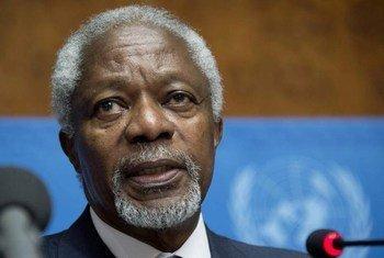 联合国前秘书长、缅甸若开邦问题咨询委员会主席科菲·安南。联合国资料图片/Jean-Marc Ferré