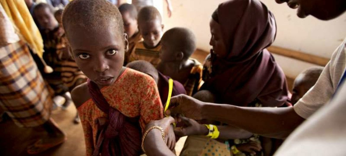 A young Somali refugee at a reception centre in Dadaab, Kenya.