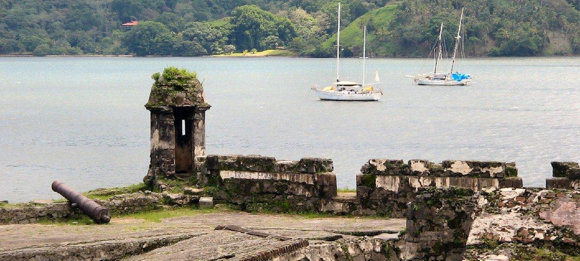 Imagen de la fortificación de Portobelo, en Panamá. Foto: UNESCO