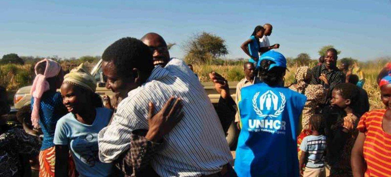 Des réfugiés angolais.