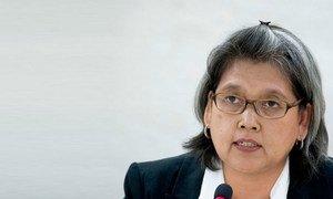 Kamala Chandrakirana, Présidente du Groupe de travail des Nations Unies sur la discrimination à l'égard des femmes dans la législation et dans la pratique. Photo/ Jean-Marc Ferré
