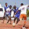 Ban Ki-moon destacó el importante papel que el deporte juega en la sociedad. Foto: ONU/Patricia Esteve