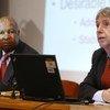Robert Vos, lors du lancement du Rapport sur la situation économique et sociale dans le monde en 2012.