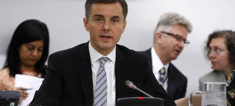 President of ECOSOC, Miloš Koterec makes closing statement to the high-level segment.
