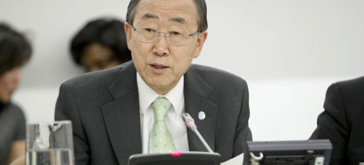 Secretary-General Ban Ki-moon speaks at the closing of the ECOSOC panel discussion.