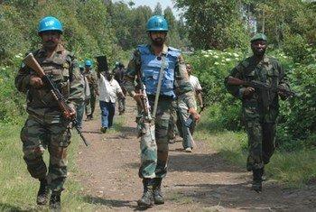 Joint MONUSCO/FARDC patrol in North Kivu, Democratic Republic of the Congo (DRC).