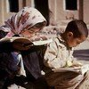 伊朗加兹温市的儿童。