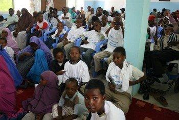 Des enfants dans un centre pour handicapés, à Hargesia en Somalie.